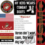 Scrapbook Customs - Military Collection - 12 x 12 Paper - Marines - Tags