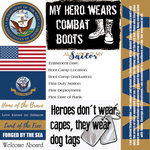 Scrapbook Customs - Military Collection - 12 x 12 Paper - Navy - Tags