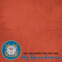 Scrapbook Customs - Military Collection - 12 x 12 Paper - Coast Guard - My Guardsman