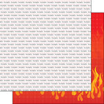 Scrapbook Customs - Occupations Collection - 12 x 12 Double Sided Paper - Firefighter Pride