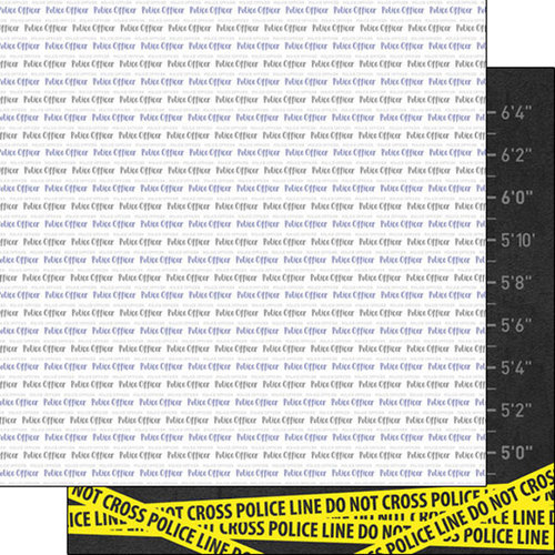 Scrapbook Customs - Occupations Collection - 12 x 12 Double Sided Paper - Police Pride