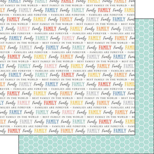 Scrapbook Customs - Family Collection - 12 x 12 Double Sided Paper - Pride - Family