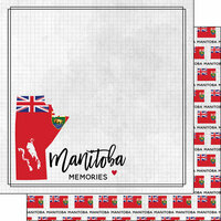 Scrapbook Customs - Canadian Province Adventure Collection - 12 x 12 Double Sided Paper - Adventure Flag - Manitoba