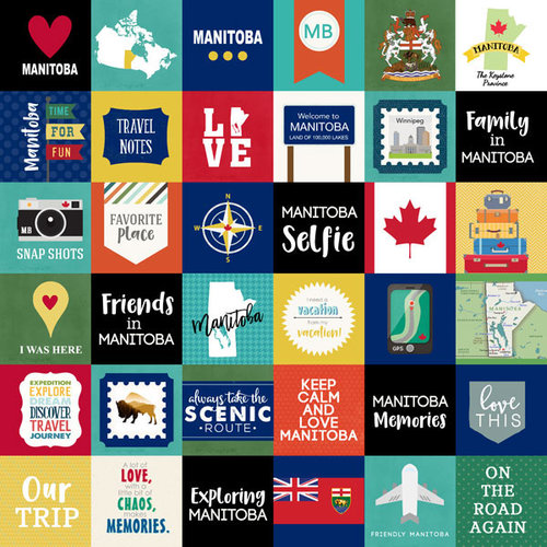 Scrapbook Customs - Canadian Province Adventure Collection - 12 x 12 Paper - Adventure Cut Outs - Manitoba