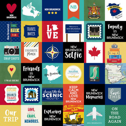 Scrapbook Customs - Canadian Province Adventure Collection - 12 x 12 Paper - Adventure Cut Outs - New Brunswick