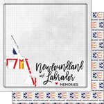 Scrapbook Customs - Canadian Province Adventure Collection - 12 x 12 Double Sided Paper - Adventure Flag - Newfoundland