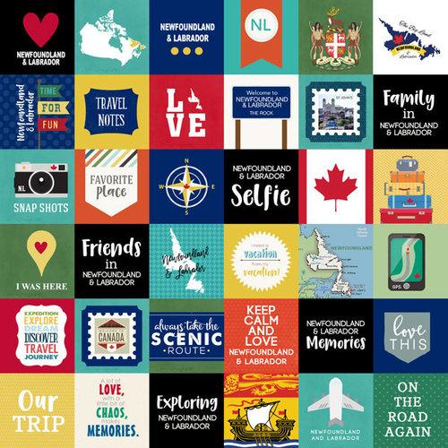 Scrapbook Customs - Canadian Province Adventure Collection - 12 x 12 Paper - Adventure Cut Outs - Newfoundland