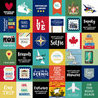 Scrapbook Customs - Canadian Province Adventure Collection - 12 x 12 Paper - Adventure Cut Outs - Newfoundland