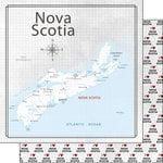 Scrapbook Customs - Canadian Province Adventure Collection - 12 x 12 Double Sided Paper - Adventure Map - Nova Scotia