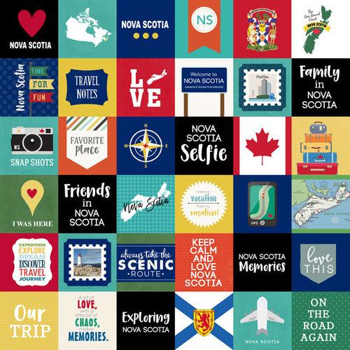 Scrapbook Customs - Canadian Province Adventure Collection - 12 x 12 Paper - Adventure Cut Outs - Nova Scotia
