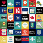 Scrapbook Customs - Canadian Province Adventure Collection - 12 x 12 Paper - Adventure Cut Outs - Ontario