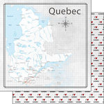 Scrapbook Customs - Canadian Province Adventure Collection - 12 x 12 Double Sided Paper - Adventure Map - Quebec