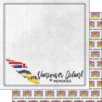 Scrapbook Customs - Canadian Province Adventure Collection - 12 x 12 Double Sided Paper - Adventure Flag - Vancouver Island