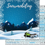 Scrapbook Customs - Winter Adventure Collection - 12 x 12 Double Sided Paper - Snowmobiling