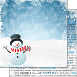 Scrapbook Customs - Winter Adventure Collection - 12 x 12 Double Sided Paper - Snowman