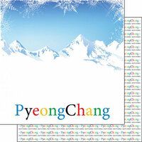 Scrapbook Customs - Winter Adventure Collection - 12 x 12 Double Sided Paper - Pyeongchang Winter