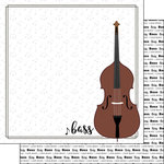 Scrapbook Customs - Music Notes Collection - 12 x 12 Double Sided Paper - Bass Strings Notes