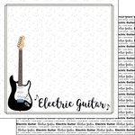 Scrapbook Customs - Music Notes Collection - 12 x 12 Double Sided Paper - Electric Guitar Notes