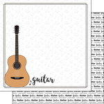 Scrapbook Customs - Music Notes Collection - 12 x 12 Double Sided Paper - Guitar Notes