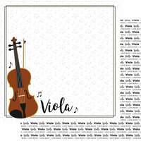 Scrapbook Customs - Music Notes Collection - 12 x 12 Double Sided Paper - Viola Notes
