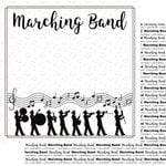 Scrapbook Customs - Music Notes Collection - 12 x 12 Double Sided Paper - Marching Band Notes