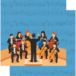 Scrapbook Customs - Music Notes Collection - 12 x 12 Double Sided Paper - Orchestra and Symphony