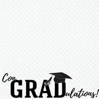 Scrapbook Customs - Graduation Collection - 12 x 12 Double Sided Paper - Con-Grad-ulations