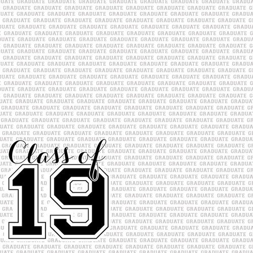 Scrapbook Customs - Graduation Collection - 12 x 12 Double Sided Paper - Class of Letterman