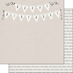 Scrapbook Customs - Her Birthday Collection - 12 x 12 Double Sided Paper - Banner