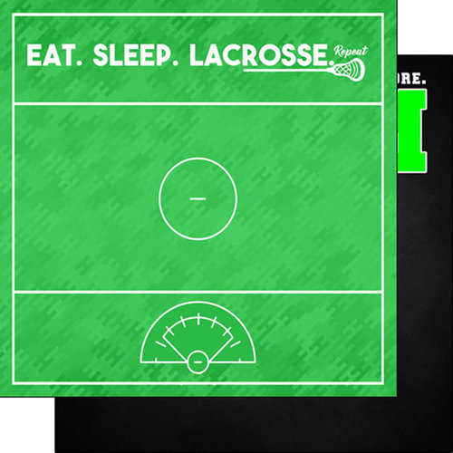 Scrapbook Customs - Neon Sports Collection - Lacrosse - 12 x 12 Double Sided Paper - 4