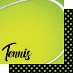 Scrapbook Customs - Neon Sports Collection - Tennis - 12 x 12 Double Sided Paper - 1