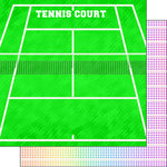 Scrapbook Customs - Neon Sports Collection - Tennis - 12 x 12 Double Sided Paper - 2