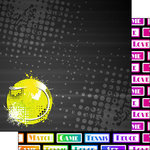 Scrapbook Customs - Neon Sports Collection - Tennis - 12 x 12 Double Sided Paper - 3