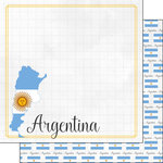 Scrapbook Customs - Adventures Around the World Collection - 12 x 12 Double Sided Paper - Adventure Border - Argentina