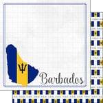 Scrapbook Customs - Adventures Around the World Collection - 12 x 12 Double Sided Paper - Adventure Border - Barbados