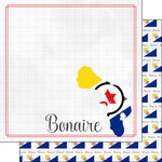Scrapbook Customs - Adventures Around the World Collection - 12 x 12 Double Sided Paper - Adventure Border - Bonaire
