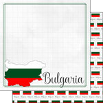 Scrapbook Customs - Adventures Around the World Collection - 12 x 12 Double Sided Paper - Adventure Border - Bulgaria
