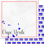 Scrapbook Customs - Adventures Around the World Collection - 12 x 12 Double Sided Paper - Adventure Border - Cape Verde