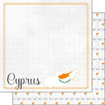 Scrapbook Customs - Adventures Around the World Collection - 12 x 12 Double Sided Paper - Adventure Border - Cyprus