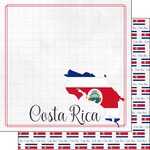 Scrapbook Customs - Adventures Around the World Collection - 12 x 12 Double Sided Paper - Adventure Border - Costa Rica