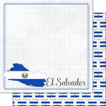 Scrapbook Customs - Adventures Around the World Collection - 12 x 12 Double Sided Paper - Adventure Border - El Salvador