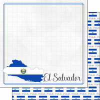 Scrapbook Customs - Adventures Around the World Collection - 12 x 12 Double Sided Paper - Adventure Border - El Salvador