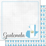 Scrapbook Customs - Adventures Around the World Collection - 12 x 12 Double Sided Paper - Adventure Border - Guatemala