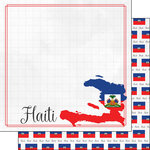 Scrapbook Customs - Adventures Around the World Collection - 12 x 12 Double Sided Paper - Adventure Border - Haiti