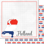 Scrapbook Customs - Adventures Around the World Collection - 12 x 12 Double Sided Paper - Adventure Border - Holland