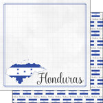 Scrapbook Customs - Adventures Around the World Collection - 12 x 12 Double Sided Paper - Adventure Border - Honduras