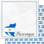 Scrapbook Customs - Adventures Around the World Collection - 12 x 12 Double Sided Paper - Adventure Border - Nicaragua