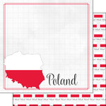 Scrapbook Customs - Adventures Around the World Collection - 12 x 12 Double Sided Paper - Adventure Border - Poland