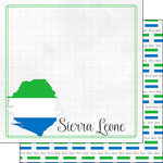 Scrapbook Customs - Adventures Around the World Collection - 12 x 12 Double Sided Paper - Adventure Border - Sierra Leone