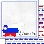Scrapbook Customs - Adventures Around the World Collection - 12 x 12 Double Sided Paper - Adventure Border - Slovenia